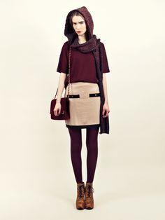 Gabrielle wool skirt