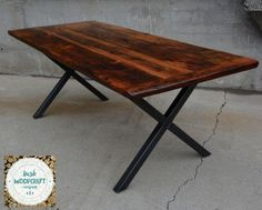 Check out our gallery of custom reclaimed & live edge wood & metal furniture. Visit our workshop or get in touch with us so we can start creating your desired custom piece! Reclaimed Wood Dining Table, Reclaimed Barn Wood, Industrial Dining, Metal Furniture, Custom Furniture, Table Furniture, Wood Stool, Live Edge Wood, Old Barns