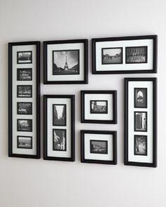 H6vgd Black White Collage Frame Traditional Frames House Furniture Design Decor