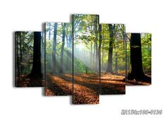 "Canvas Picture - 5 Piece - Total size: Width 59,1""(150cm), Height 39,4""(100cm) wall art print - Completely framed - Ready to Hang - multi panel - five 5 Part Panels - photo no. 0136 - EA150x100-0136: Amazon.co.uk: Kitchen & Home"