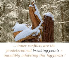 ... inner #conflicts are the predetermined breaking points ~ inaudibly inhibiting this #happiness !