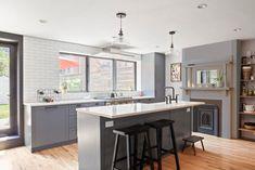 Brooklyn Kitchen Thin Brick Backsplash | Fireclay Tile | Fireclay Tile Brooklyn Kitchen, Thin Brick, Fireclay Tile, Kitchen Backsplash, Flooring, Wood Flooring, Floor, Kitchen Countertops