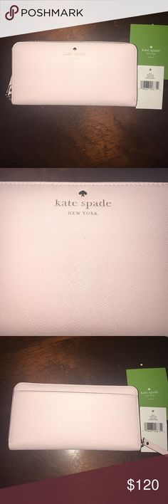 🆕 Kate Spade Zip Wallet Light pink brand new Kate Spade Zip around Wallet! Product description is included within the pictures! kate spade Bags Wallets