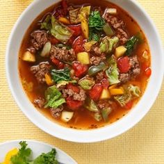 Sweet & Sour Beef-Cabbage Soup - EatingWell.com