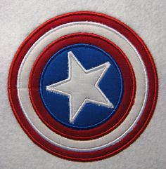 Captain America Superhero Embroidery Applique Machine Design. Instant Download 4X4, 5X7 and 6X10 Machine Embroidery Applique, Embroidery Patches, Ribbon Embroidery, Embroidery Patterns, Captain America Birthday, Brother Embroidery, Baby Boy 1st Birthday, Cool Patches, Morale Patch
