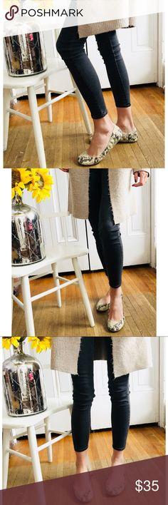 Adorable BCBG flats!! Adorable snakeskin BCBG flats!! These are so adorable & spice up an outfit!!   ——-  #bcbg #snakeskin #flats #neutraltones #shoes BCBGMaxAzria Shoes