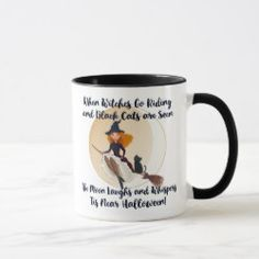When Witches Go Riding Cheeky Witch Halloween Mug
