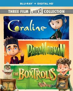 Boxtrolls/Paranorman/Coraline Triple Feature