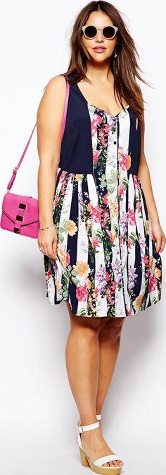3592a2153 Women's fashion print dress - article about plus size fashion in prints -  http:/