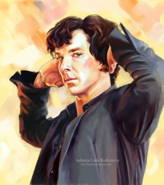 This is a  beautiful painting.  original pin/link Sherlock magnificent by ladunya.deviantart.com on @deviantART