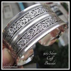 Tibetan Embossed Cuff Bracelet not 925 Silver ❤️ Beautiful embossed cuff bracelet Jewelry Bracelets