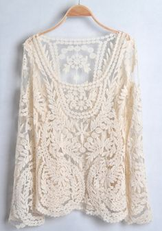 Lace Long Sleeve Cotton T