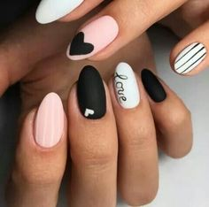 2019 Simple Tutorials Of Designs With Hot Valentines Nails - Nail Art # . - 2019 simple tutorials of designs with hot valentines nails – nail art 2019 simple - Perfect Nails, Gorgeous Nails, Love Nails, Pink Nails, My Nails, White Nails, We Heart It Nails, Heart Nail Art, Style Nails
