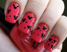 Minnie+Mouse+Acrylic+Nail+Designs | Fun and Creative Ideas of the Minnie Mouse Nails Design