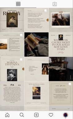 Poetry - Social Media Template Pack + CANVA Poetry Social Media Template Pack is created in CANVA and Adobe Photoshop. Template pack helps to build poetic Insta Layout, Instagram Feed Layout, Feeds Instagram, Instagram Grid, Instagram Design, Web Design, Layout Design, Print Layout, Social Media Template