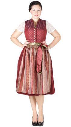 16448 Tramontana 70er Dirndl bordeaux oliv Vintage, Fashion, Olives, Floral Patterns, Oktoberfest, Tops, Blouse, Cotton, Moda