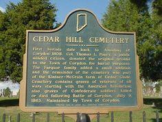 historic photos corydon in | Cedar Hill Cemetery - Corydon, Indiana - Indiana Historical Markers on ...