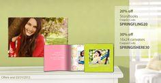 Spring deals at SmileBooks.com right now! #canvas #deals #smilebooks #photobooks