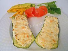 Zucchine ripiene con ricotta e salsiccia