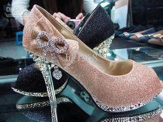 Wholesale Fashion Rhinestone heels waterproof Shoes wedding shoes Bridal Shoes, Free shipping, $23.98-35.4/Piece | DHgate