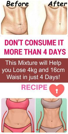 This Mixture will Help you Lose 4kg and 16cm Waist in just 4 Days!