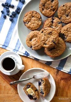 Blueberry Maple Bran Muffins