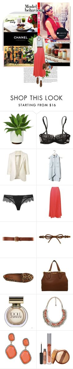 """""""It's ok to make mistakes, as long as you learn from them"""" by o0llscream-dey-5711llo0 ❤ liked on Polyvore featuring Garance Doré, Chanel, La Perla, Pull&Bear, Kiki de Montparnasse, H&M, Burberry, Qupid, Miu Miu and Giorgio Armani"""