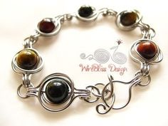 TUTORIAL - Twice Around The World (TAW) Wire Wrapped Bracelet. $8.00, via Etsy.