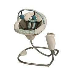 """gender neutral, best swing ever, it swings both forward and side to side     Graco Sweet Snuggle Infant Soothing Swing - Oasis - Graco - Babies """"R"""" Us"""