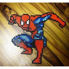 Spiderman perler beads by  perlerking604