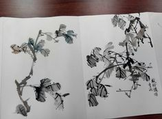 Chinese Flowers, Chinese Brush, China Art, Chinese Painting, Ink Painting, Japanese Art, Oriental, Sketch, Pottery