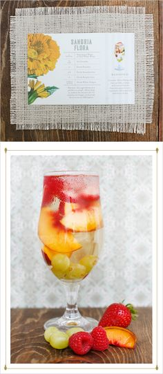 signature wedding cocktail idea - Sangria using St. Germain
