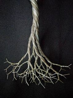 Your place to buy and sell all things handmade Ming Tree, Wire Sculptures, Branch Necklace, Glass Installation, Wire Trees, Iron Age, Picture Show, Plant Hanger, Flow
