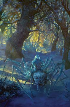 Ice spiders, Marc Simonetti on ArtStation at https://www.artstation.com/artwork/rPrqO?utm_campaign=digest&utm_medium=email&utm_source=email_digest_mailer