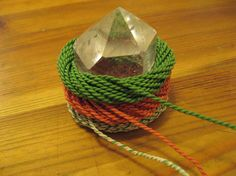 mobius coil wrap | Then I wrapped a triple toroidal mobius coil around the big crystal ...