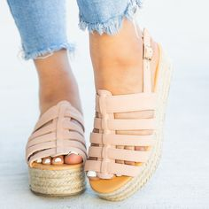 55d76276efb95 Come check out this latest arrival now on Shoetopia.com. Search: Caged  Espadrille Flatforms. <p>Put some pep in your step with these beautiful  Qupid Shoes ...