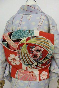 Antique Obi sash and Kimono, Japan. - アンティーク帯, 着物, 日本