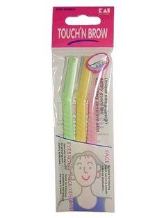 Amazon.com : TOUCH N BROW Razor (3 Pcs) : Kai Touch N Brow : Beauty