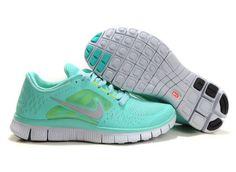 Reduziert Nike Free Run 3 Damen Mint Grün Laufschuhe