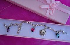 Arte in Miniatura Bijoux: Charms Coccinelle: Anellini con Ciondolo Goodluck Ladybugs Bracelet