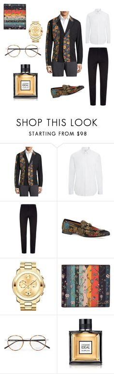 """Men in floral blazers"" by miloni-jhaveri on Polyvore featuring Y-3, Joseph, Stephan Schneider, Gucci, Movado, Paul Smith, Yves Saint Laurent, Guerlain, men's fashion and menswear"