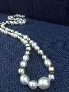 South Sea Pearl and Tahitian Black Pearls Semi Baroque Necklace