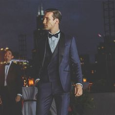 Create an iconic look. Blogger @MarcelFloruss in his dream midnight blue tuxedo made possible by #1905Custom.  #Regram via @josabank Blue Tuxedos, Blue Weddings, Midnight Blue, Gentleman, Groom, Suit Jacket, Menswear, Suits, Formal