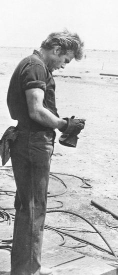 """James Dean in """"Giant"""", 1955. Yeah, I'm a fan of this guy in this movie . . . ."""