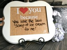 I Love You Because, Love Notes Dry Erase Board, Wood Frame, Burlap Backing Weddings Bride Groom Gift Housewarming Newly Weds Anniversary
