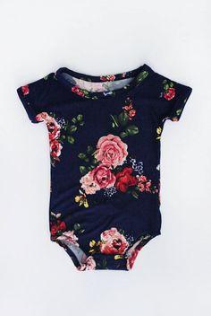 Handmade Floral Baby Onesie | lovedeanjax on Etsy