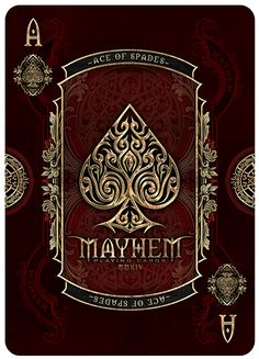 The Bicycle Mayhem Deck. Printed by the United States Playing Card Company.