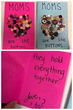 Mother's Day card from preschooler, preschool Mother's Day card.