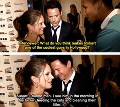 Susan Downey keeps it real… I want to meet the woman who managed to not only get Robert Downey jr to marry her but also puts up with him every day. My hat is off to you, Susan.You're amazing. We love you,   - Ducklings