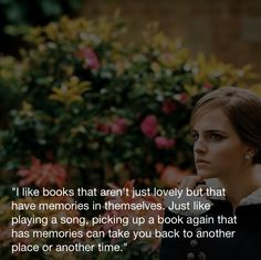Beautiful Emma Watson quote. :)